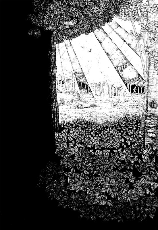 「泉」下巻用装画