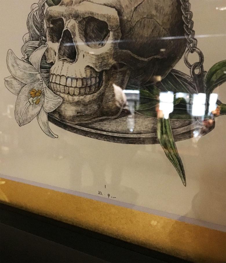 骨と十字架』 原画展示 ディテール