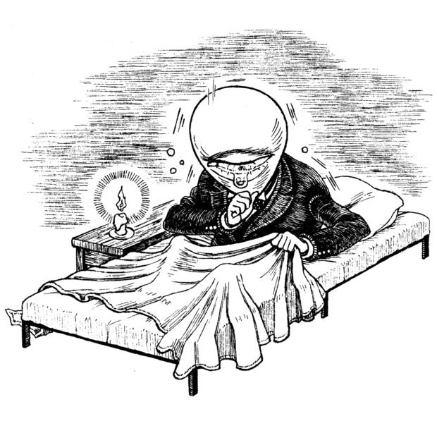 『どん底』チラシ用カット 「咳き込む
