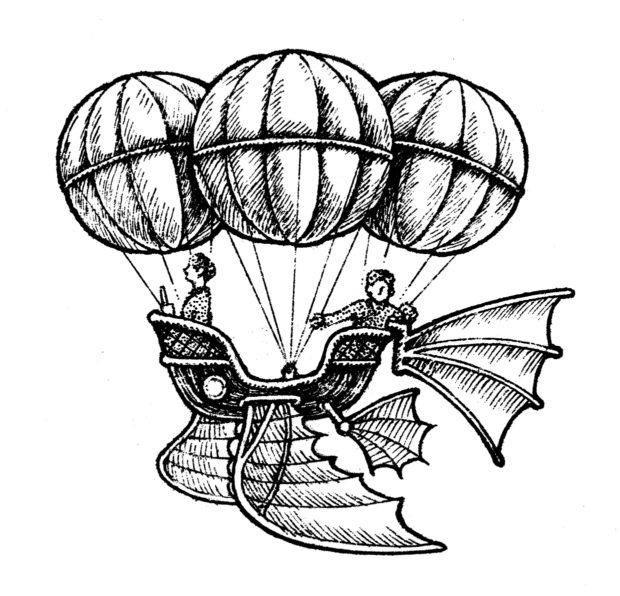 カット 空飛ぶカゴ