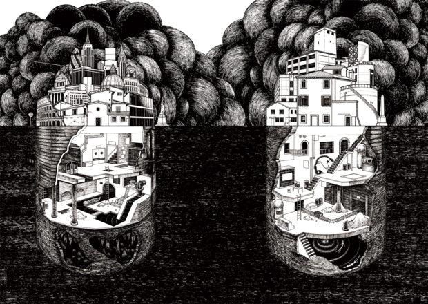 装画『地下世界をめぐる冒険 闇に隠された人類史』