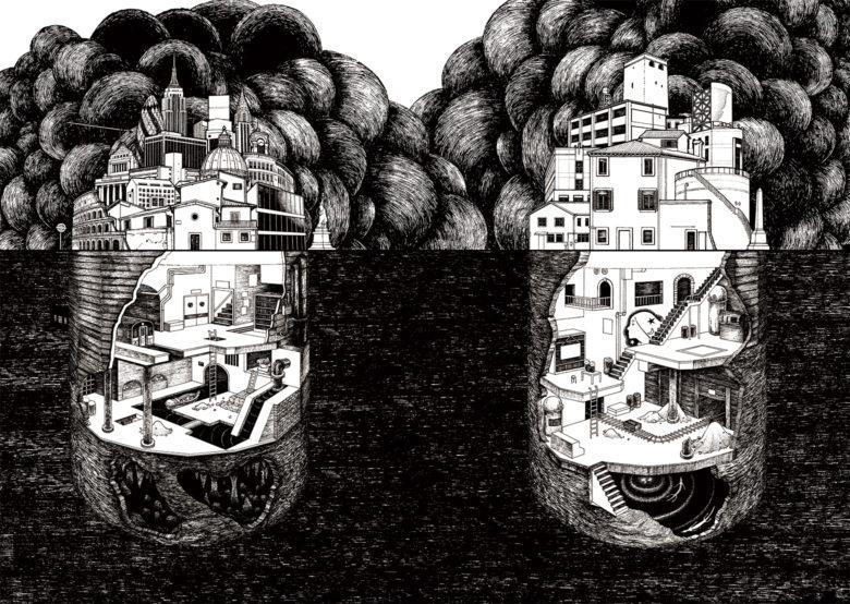 『地下世界をめぐる冒険 闇に隠された人類史』 装画