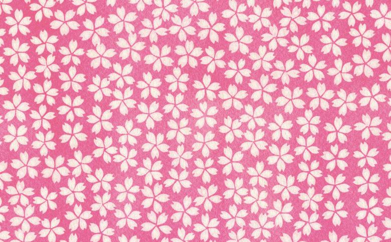 『虫めづる姫君』 背景素材 パターン 小花柄 桜